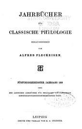 Jahrbücher für Philologie und Paedagogik: Band 139