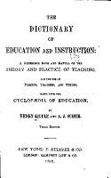 The Dictionary of Education and Instruction  a Reference Book and Manual on the Theory and Practice of Teaching PDF