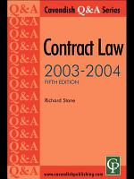 Contract Law Q and A 2003-2004
