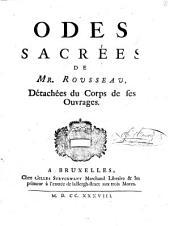Odes sacrées