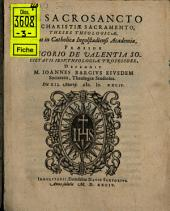 De Sacrosancto Evcharistiae Sacramento, Theses Theologicae