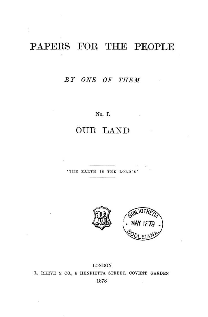 Papers for the people by one of them