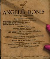 De angelis bonis