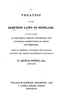 A Treatise on the Election Laws in Scotland PDF