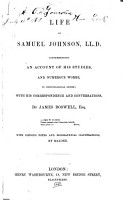 Life of Samuel Johnson  Comprehending an Account of His Studies  and Numerous Works  in Chronological Order PDF
