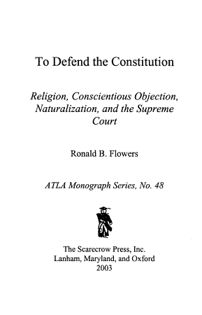To Defend the Constitution PDF