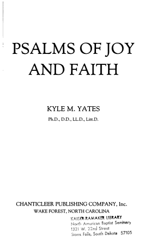 Psalms of Joy and Faith