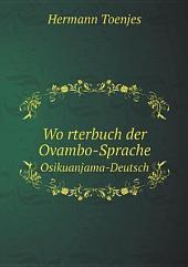 Wo?rterbuch der Ovambo-Sprache