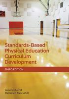 Standards Based Physical Education Curriculum Development PDF