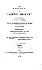 New Researches on Ancient History: Volume 2