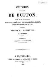 Oeuvres complètes de Buffon, suivies de ses continuateurs Daubenton, Lacépède, Cuvier, Duméril, Poiret, Lesson et Geoffroy-St-Hilaire: Tome VII: Mammifères / Buffon et Daubenton, Volume7