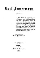 Carl Immermann: mit Portr