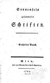 Sonnenfels gesammelte Schriften ...: Fortsetzung der Briefe über die wienerische Schaubuhne