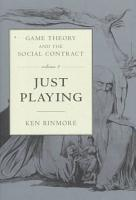 Game Theory and the Social Contract  Just playing PDF