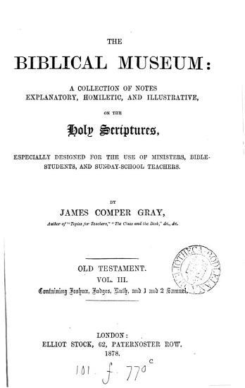 The biblical museum  Old Testament PDF