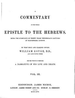 A Commentary on the Whole Epistle to the Hebrews Book