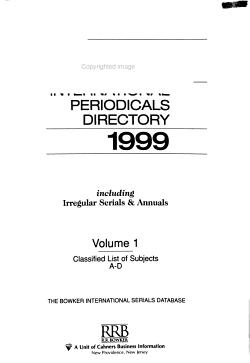 Ulrich s International Periodicals Directory PDF