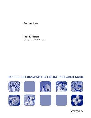 Roman Law  Oxford Bibliographies Online Research Guide PDF