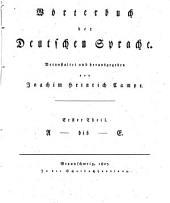 Wörterbuch der deutschen Sprache: A bis E. 1