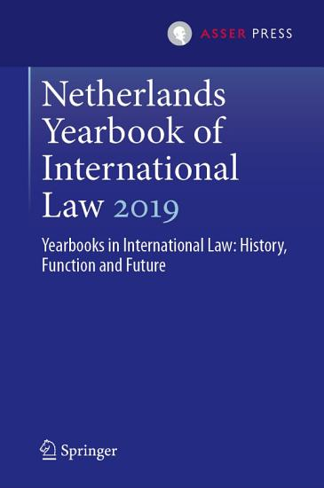 Netherlands Yearbook of International Law 2019 PDF