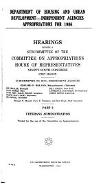 Department of Housing and Urban Development--independent Agencies Appropriations for 1986: Veterans Administration