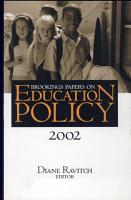 Brookings Papers on Education Policy  2002 PDF