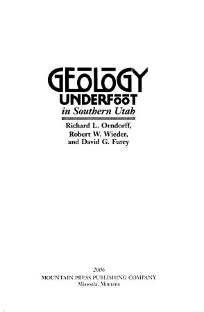 Geology Underfoot in Southern Utah PDF