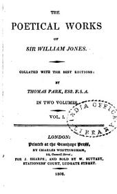 The Poetical Works of Sir William Jones