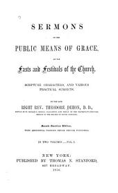 Sermons on the Public Means of Grace