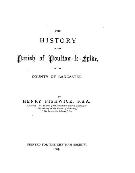 Download Remains  Historical and Literary  Connected with the Palatine Counties of Lancaster and Chester Book