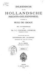 Inleidinge tot de Hollandsche rechts-geleerdheid: Volume 1