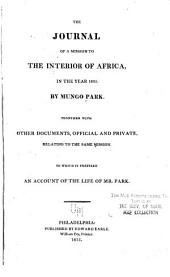The Journal of a Mission to the Interior of Africa: In the Year 1805