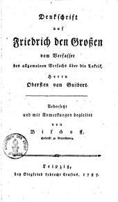 Denkschrift auf Friedrich den Großen