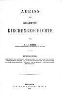 Abriss der gesammten Kirchengeschichte0 PDF