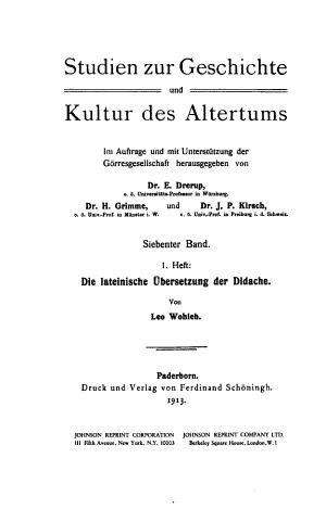 Die lateinische   bersetzung der Didache PDF