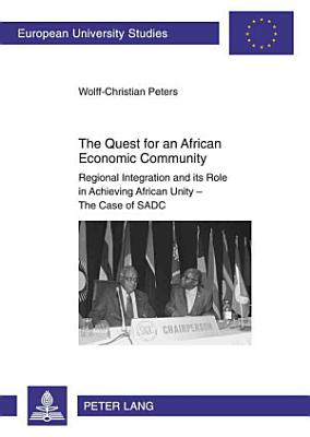 The Quest for an African Economic Community PDF