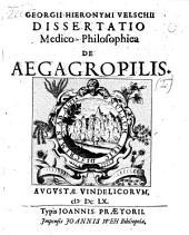 Dissertatio medico-philosophica de aegagropilis: Volume 1