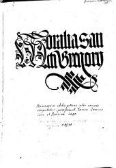 Moralia sancti Gregorii