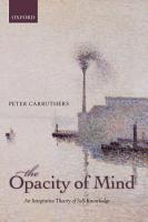 The Opacity of Mind PDF