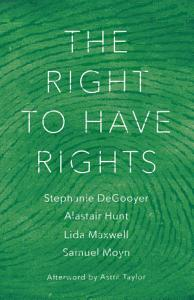 The Right to Have Rights Book