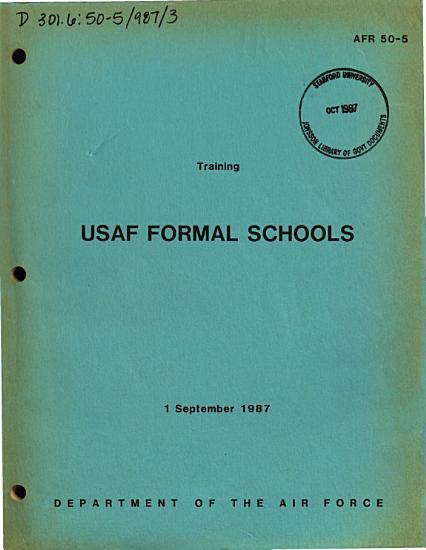 USAF Formal Schools PDF