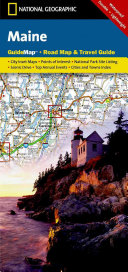 National Geographic Guide Map Maine