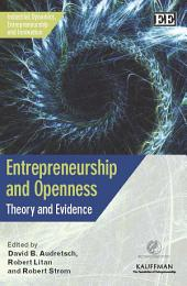 Entrepreneurship and Openness: Theory and Evidence