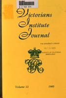 Victorians Institute Journal PDF