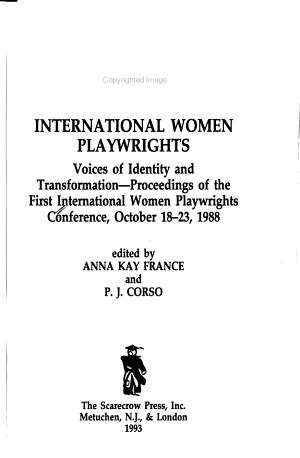 International Women Playwrights