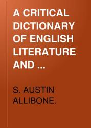 A Critical Dictionary of English Literature PDF