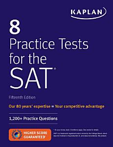 8 Practice Tests for the SAT Book
