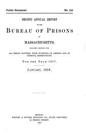 Annual Report of the Bureau of Prisons of Massachusetts ...: Volume 2