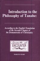 Introduction to the Philosophy of Tanabe PDF