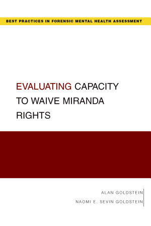 Evaluating Capacity to Waive Miranda Rights PDF